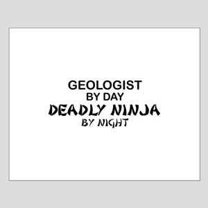 Geologist Deadly Ninja by Night Small Poster