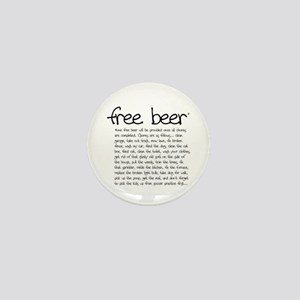 free beer Mini Button
