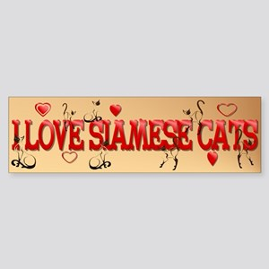 Walking Siamese Bumper Sticker