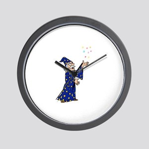 Blue Wizard Wall Clock