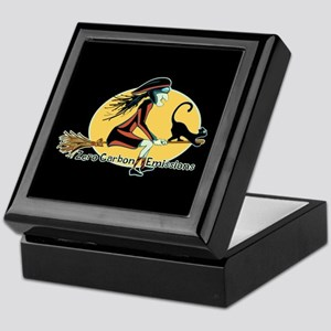 Flying Green Witch Keepsake Box