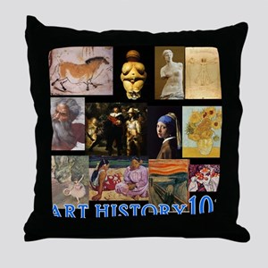 Art History 101 Throw Pillow