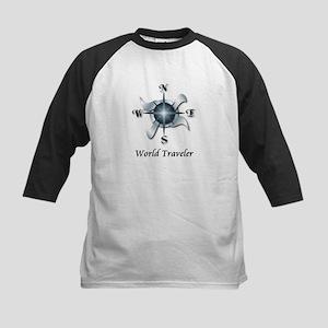 World Traveler - Kids Baseball Jersey