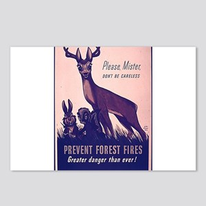 Fire Prevention Postcards (Package of 8)