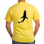 Signature Blue Shark Logo Yellow T-Shirt