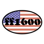 ff1600 Oval Sticker