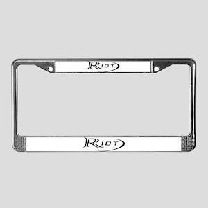 Riot License Plate Frame