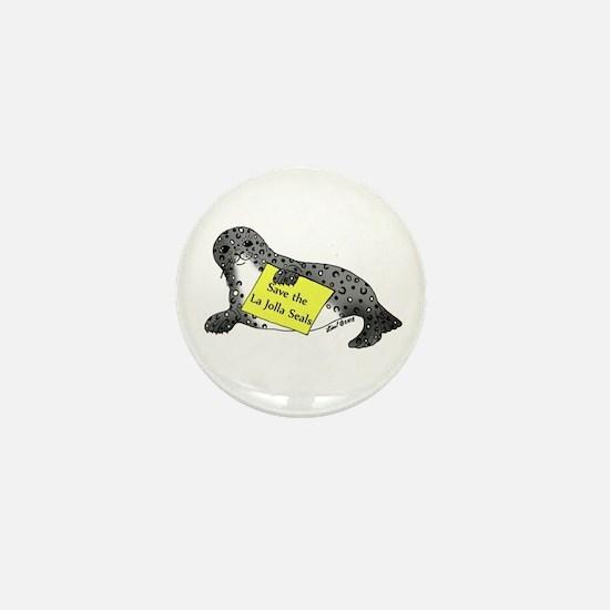 Save the Seals Mini Button
