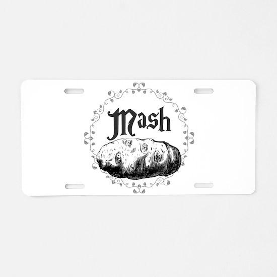 Mash Aluminum License Plate