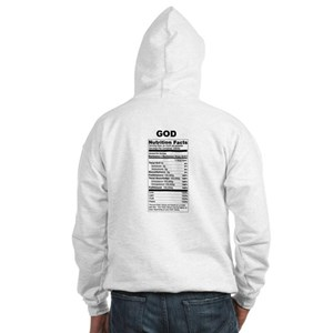 God Nutrition Facts Hooded Sweatshirt