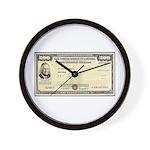 Defense Bonds Wall Clock