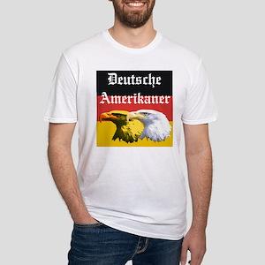 Deutsche Amerikaner Fitted T-Shirt