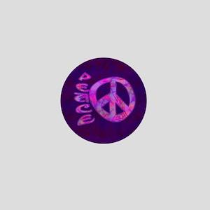 Pink Peace Mini Button