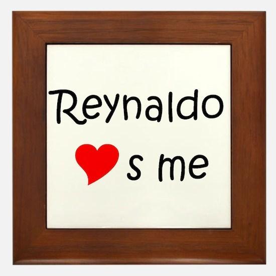 Cool Heart reynaldo Framed Tile