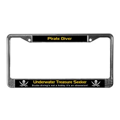 Pirate Diver, Treasure Seeker, License Plate Frame