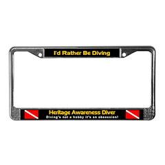 Heritage Awareness Diver, License Plate Frame