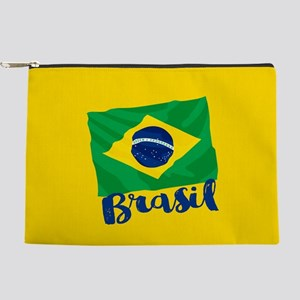 Brazil Brasil Flag Makeup Bag