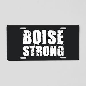 Boise Strong Aluminum License Plate