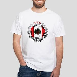 Peru Soccer White T-Shirt