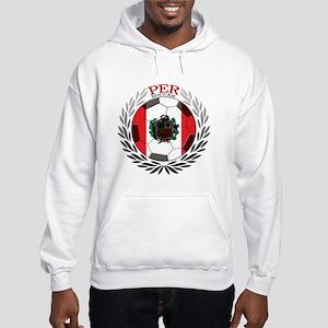 Peru Soccer Hooded Sweatshirt