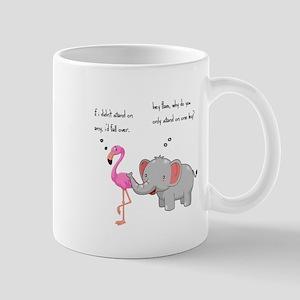 FLAMINGO AND ELEPHANT Mugs