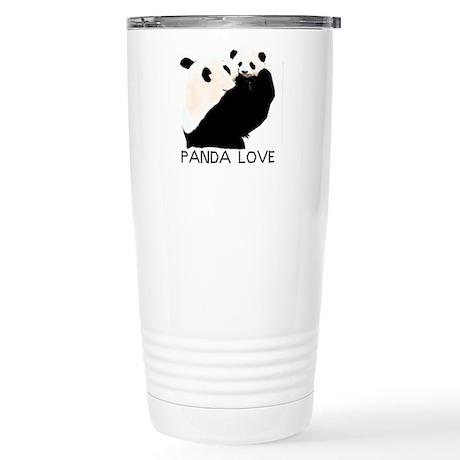 panda mom and cub Stainless Steel Travel Mug