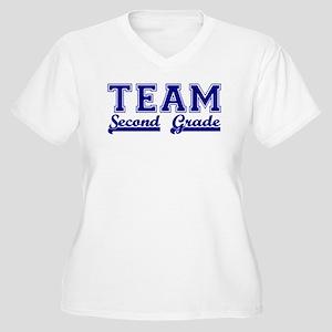 Team Second Grade Women's Plus Size V-Neck T-Shirt