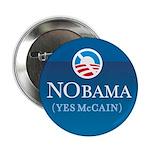 """NObama (Yes McCain) button 2.25"""" Button (10 p"""