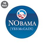NObama (Yes McCain) button 3.5