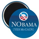 NObama (Yes McCain) button Magnet