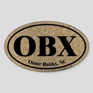 Outer Banks OBX Euro Oval Oval Sticker