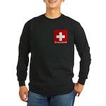 Swiss Cross-2 Long Sleeve Dark T-Shirt
