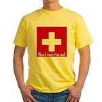 Swiss Cross-2 Yellow T-Shirt