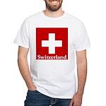 Swiss Cross-2 White T-Shirt