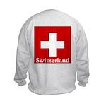 Swiss Cross-2 Kids Sweatshirt