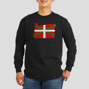 Oregon Basque Long Sleeve Dark T-Shirt