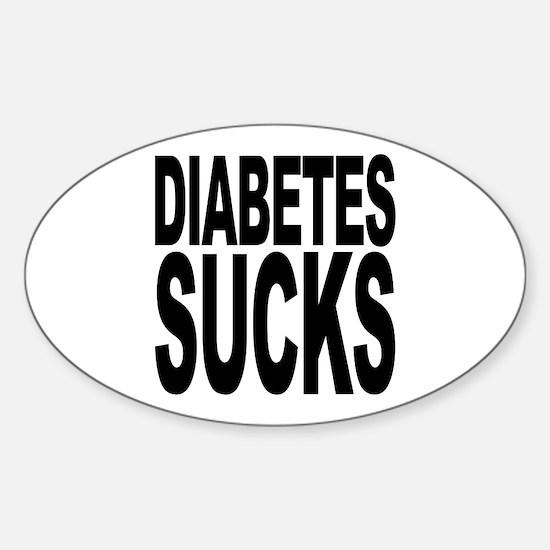 Diabetes Sucks Oval Decal