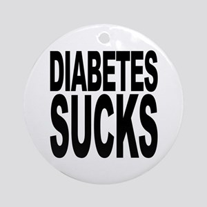 Diabetes Sucks Ornament (Round)