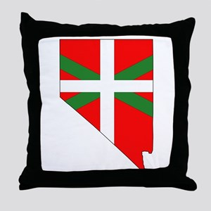 Nevada Basque Throw Pillow