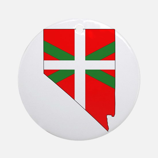 Nevada Basque Ornament (Round)