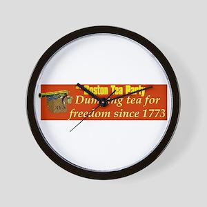 Dumping Tea 4 Freedom Wall Clock