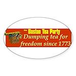 Dumping Tea 4 Freedom Oval Sticker