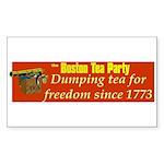 Dumping Tea 4 Freedom Rectangle Sticker