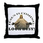 Humorous Jesus Throw Pillow