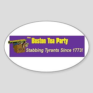 Stabbing Tyrants Since 1773 Oval Sticker