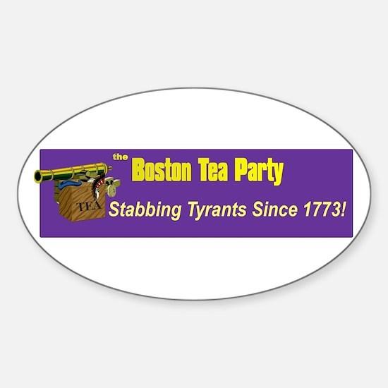 Stabbing Tyrants Since 1773 Oval Decal