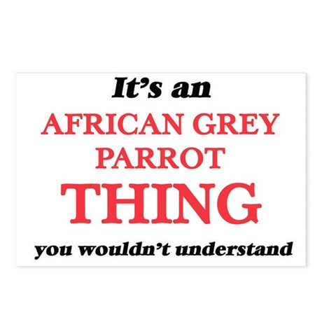 It's an African Grey Postcards (Package of 8)