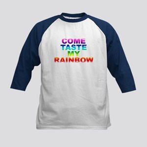 Come Taste My Rainbow Kids Baseball Jersey