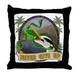 Never Give Up v.2 Throw Pillow
