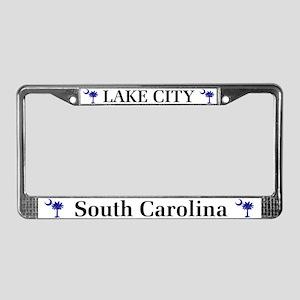 Lake City South Carolina License Plate Frame